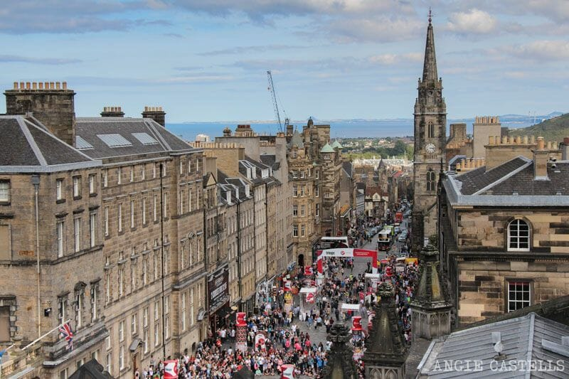 Royal Mile desde la catedral de St Giles Edimburgo