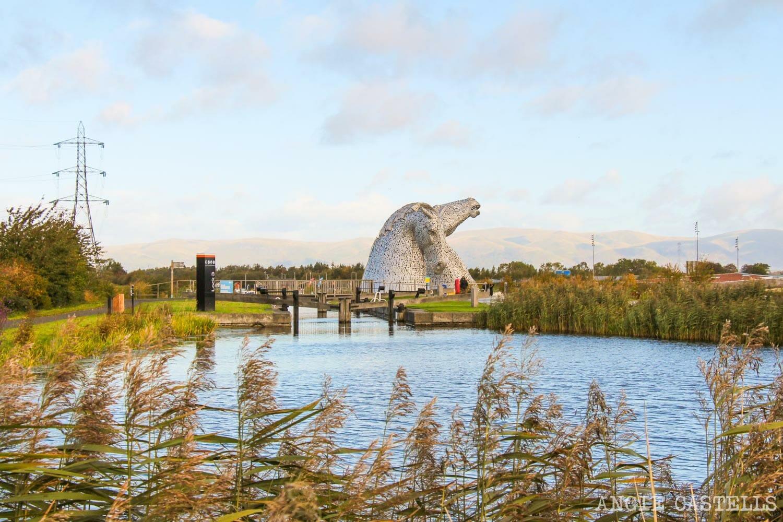Visitar los Kelpies de Falkirk, esculturas de caballos en Escocia