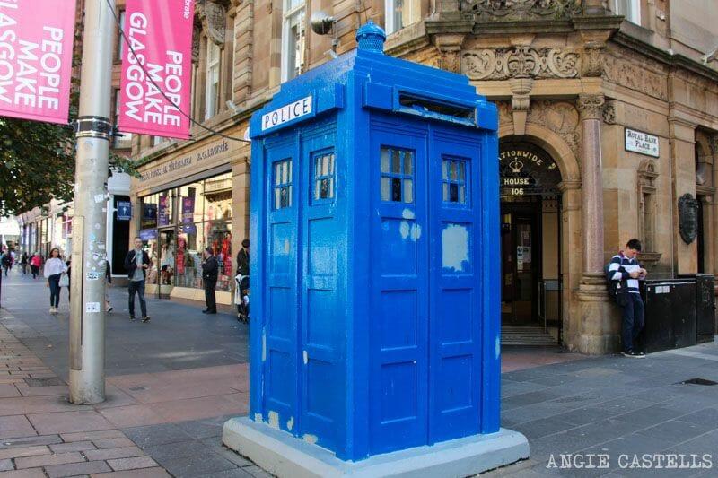 Guia de Glasgow Que ver en un dia Ruta Police Box Dr Who