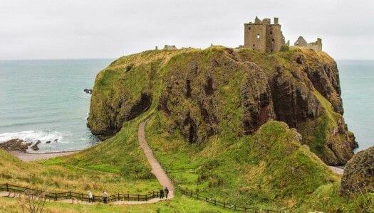 Visitar el castillo de Dunnottar, en la costa este de Escocia