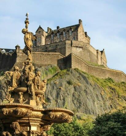 Ruta por los escenarios de Outlander en Edimburgo castillo