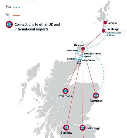 Preparativos para viajar a las islas Orkney y Shetland -