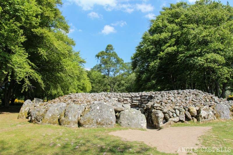 Visitar los Clava Cairns, un círculo prehistórico muy cerca de Inverness
