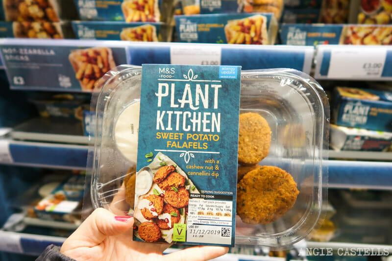 Comida vegetariana en los supermercados de Edimburgo