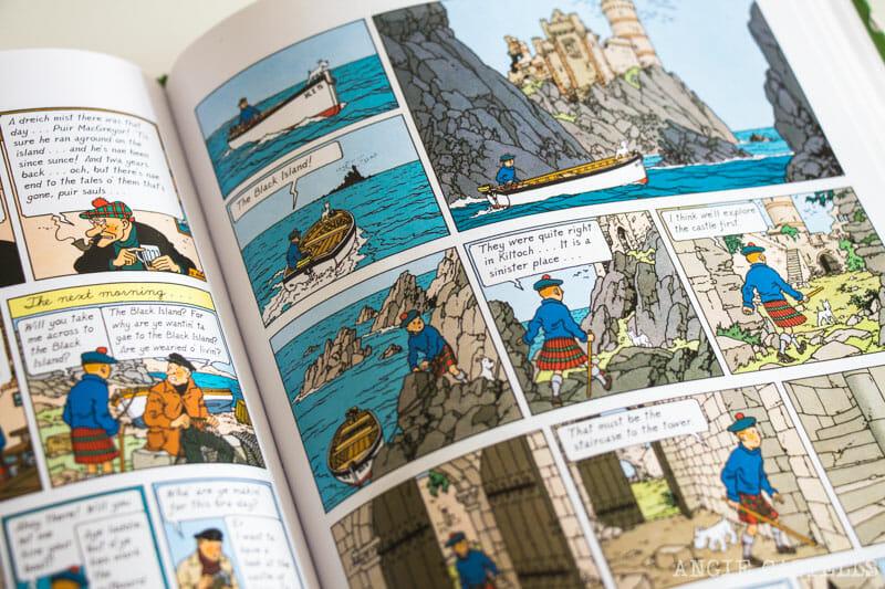 Libros ambientados en Escocia - Tintín y la isla negra