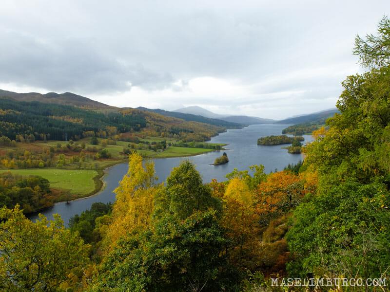 As melhores caminhadas de outono na Escócia - Pitlochry e Queen's View