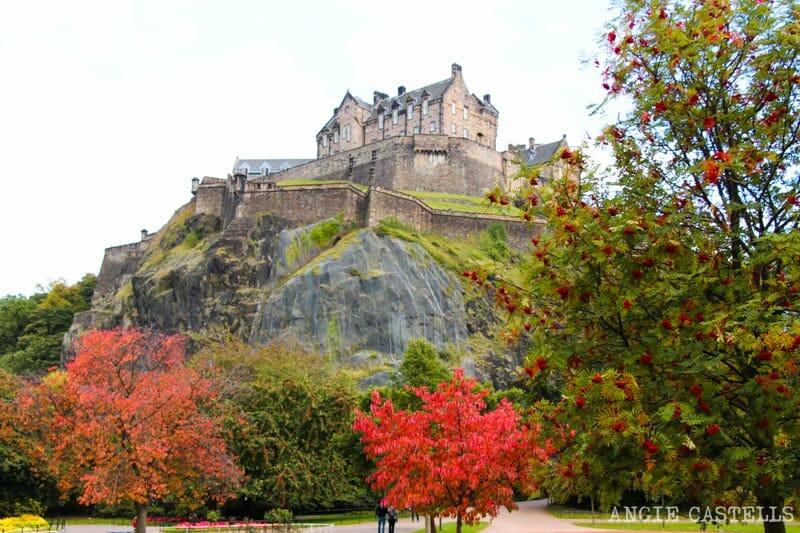 Las mejores excursiones para el otoño en Escocia - Castillo de Edimburgo