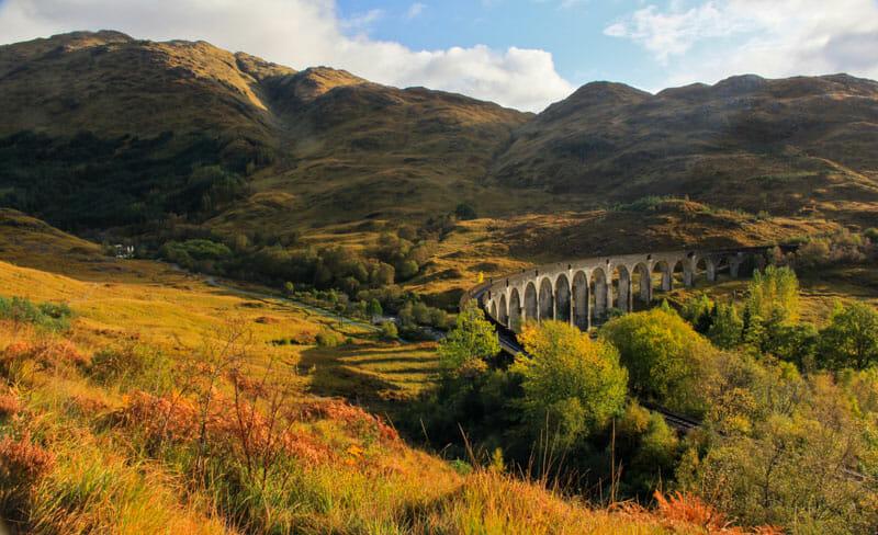Las mejores excursiones del otoño en Escocia - Glenfinnan Viaduct