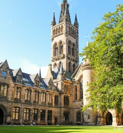 Visitar la Universidad de Glasgow es gratis