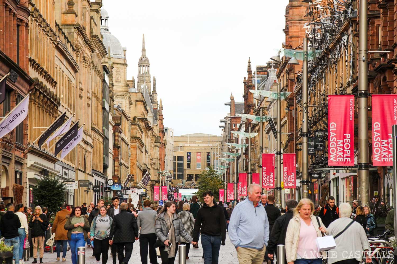 La calle Buchanan St, en Glasgow