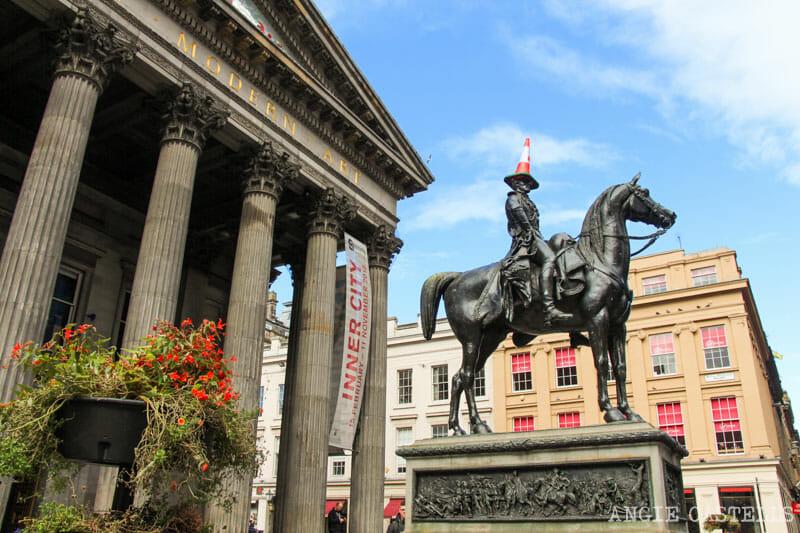 Qué hacer gratis en Glasgow - El duque de Wellington y el Galelry of Modern Art