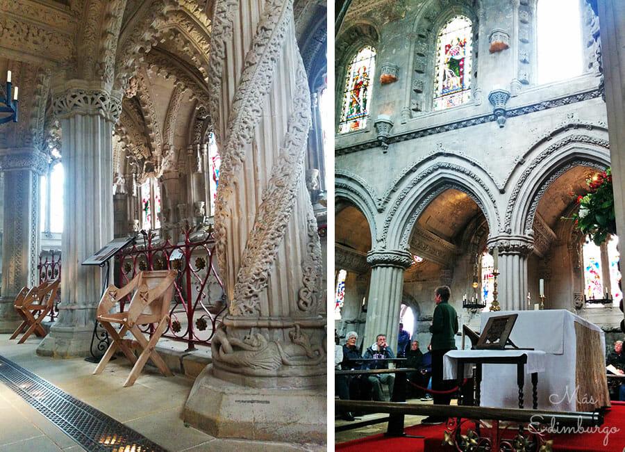Visitar la capilla de Rosslyn - La leyenda del pilar del aprendiz