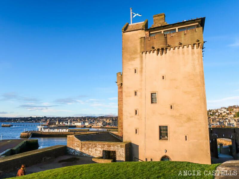 El castillo Broughty Castle en Dundee