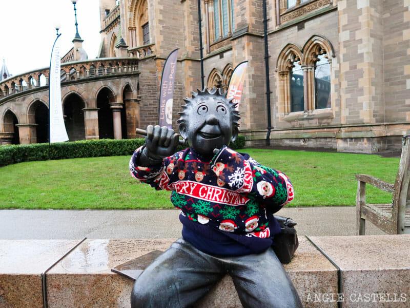La estatua de Oor Wullie en Dundee