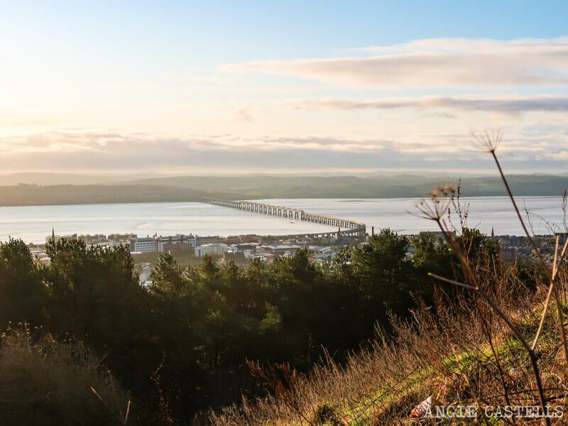 Las vistas de Dundee desde Dundee Law